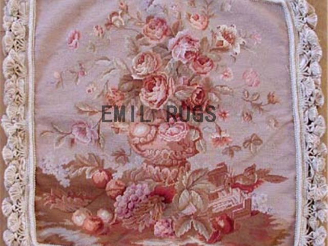"100% wool victorian french aubusson petitpoint 20"" X 20"" needlepoint pillows decorative throw pillows"