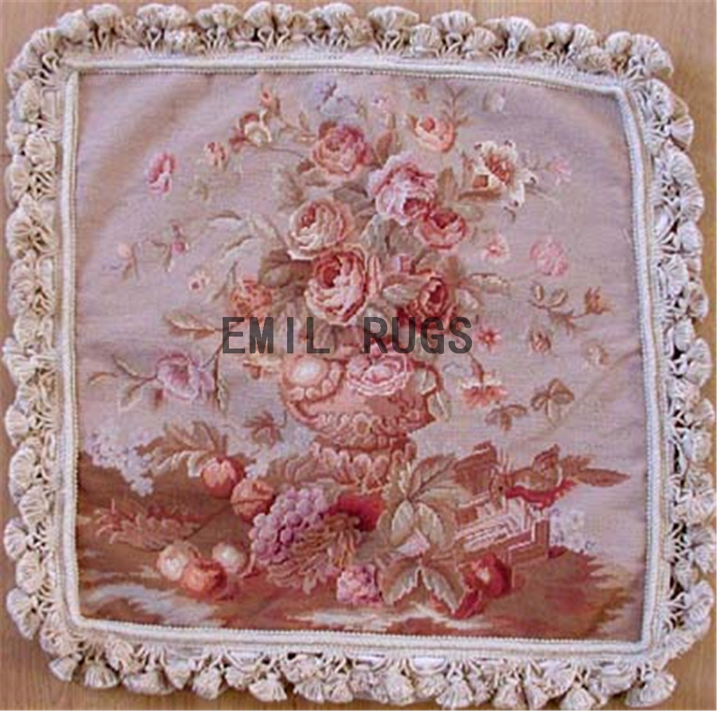 100% wool victorian french aubusson petitpoint 20