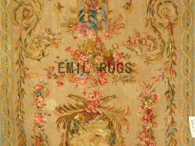 wool antique authentic aubusson gobelin 6.5'x 11' tapestries wall hangings