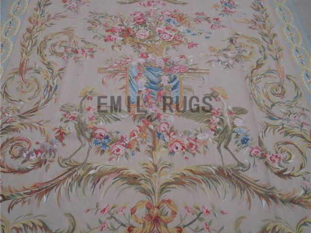 wool antique european french aubusson gobelin 3.3' X 5.7' tapestry wall hangings