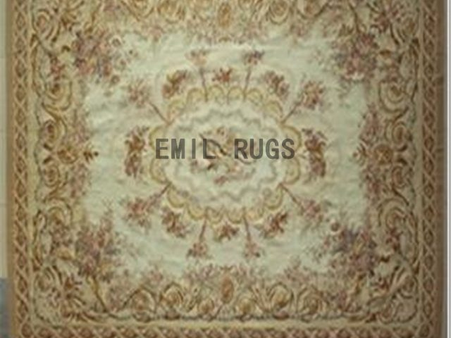 flat weave aubusson rugs Oversized 10.8' X 16' Ivory Field Beige Border 100% New Zealand wool hand woven