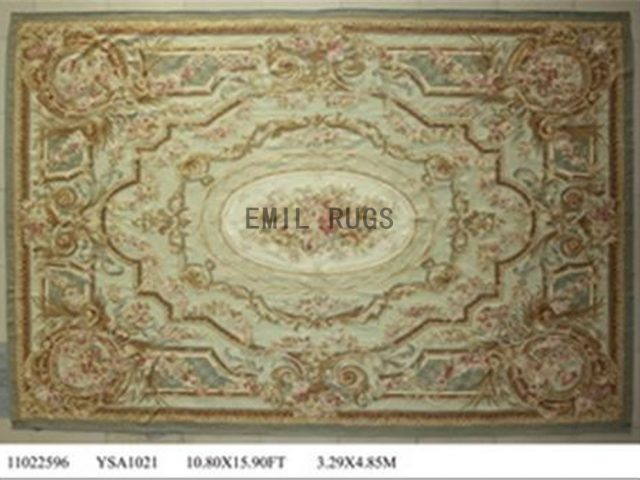 flat weave aubusson rug Oversized 10.8' X 16' Ivory Field Ivory Border 100% New Zealand wool hand woven