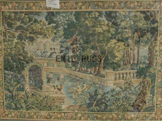 wool antique european french aubusson gobelin 8'x 8.4' art tapestries