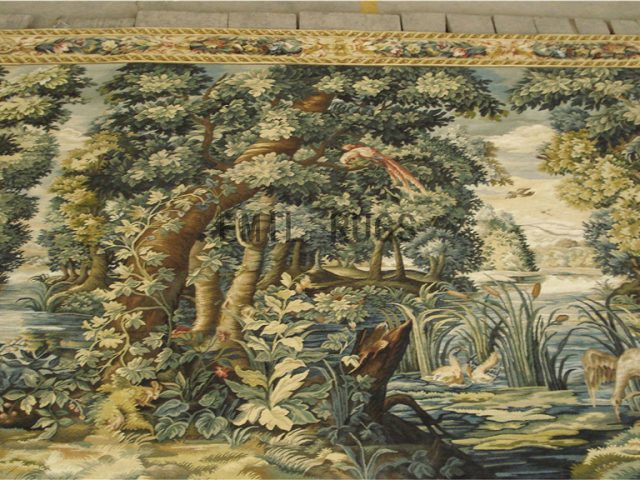 wool antique handmade aubusson gobelin 7'x 10' tapestries wall hangings