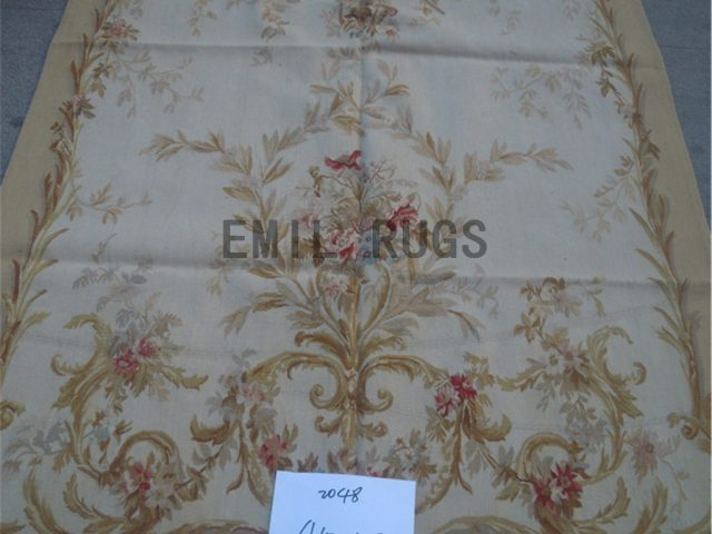 wool antique authentic aubusson gobelin 4.5' X 8' wall tapestries