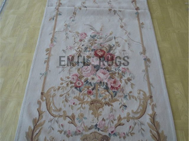 wool antique authentic aubusson gobelin 3' X 9' tapestry wall hangings