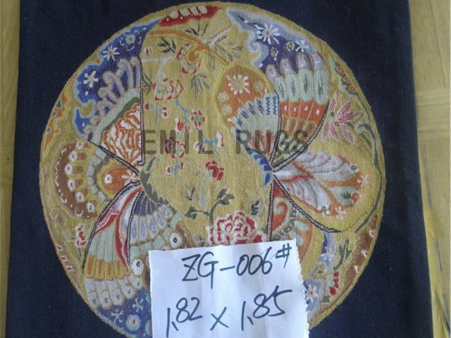 wool vintage authentic aubusson gobelin 1.82' X 1.85' art tapestries