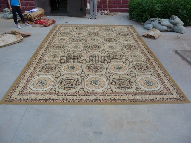 flat weave aubusson rug Oversized 11' X 16' Ivory Field Ivory Border 100% New Zealand wool hand woven