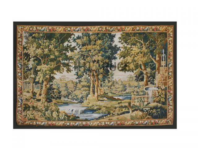 wool vintage european french aubusson gobelin 7' X 11' art tapestries